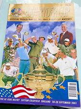 New listing 2001 Ryder Cup (cancelled due to 9/11) Golf Event Program Programme Memorabillia
