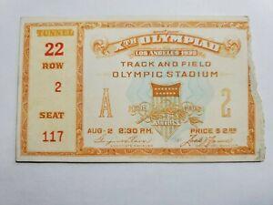 Orig 1932 Xth Olympics Ticket Track & Field Olympic Stadium Los Angeles NR