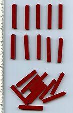 LEGO x 20 Dark Red Brick 1 x 1 x 5 NEW bulk lot