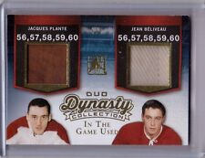 PLANTE JEAN BELIVEAU /15 Leaf ITG In The Game Used Dynasty GOLD Jersey/Patch #/5