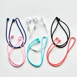 Anti-Loss Silicone Security Neck Strap For Apple AirPods EarPhone UK Stock