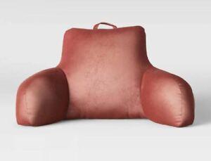 """Opalhouse Velvet & Satin Bed Rest Pillow Blush 19"""" x 20"""" x 13"""""""