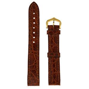 Cartier Brown 15mm x 14mm Alligator Strap & Buckle 190mm length