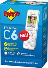 AVM FRITZ!Fon C6 DECT-Telefon (schnurlos HD Qualität Ladestation Fritz Fon weiß)