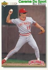 280 BILL DORAN CINCINNATI REDS  BASEBALL CARD UPPER DECK 1992