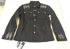 The Alley Chicago button BUCKLES Work Shirt NEW NWT grunge punk BONDAGE SZ M