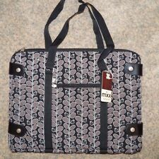 """MXX 2 Pieces Black 15-16"""" Laptop Tablet Tote Cosmetic Computer Briefcase Padded"""