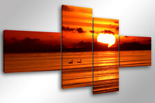 Quadro su Tela Quadri Moderni XXL cm 200x100 BEAUTIFUL SUNSET arredamento