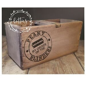 A5 STENCIL By Order Of The PEAKY BLINDERS STAMP Furniture Vintage Crate Crafts