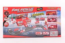 Fire Engines Parking Playset Childrens Toy Car Truck Fire Man Fire Truck Red UK
