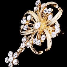 Drop Accessories Women Alloy Rhinestone Crystal Pearl Brooches Wedding Pins