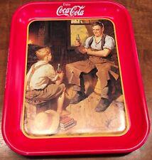 """Vintage, 1987 COCA-COLA SERVING TRAY, VILLAGE BLACKSMITH, """"Canadian Edition"""""""