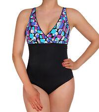Speedo Size: 12 Barbados Geo Empire Border 1pc Aquatic Fitness Women's NWT
