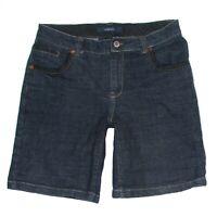 Bill Blass Womens Jeans Shorts Casual Stretch Dark Size 6 Blue Denim