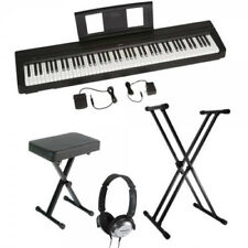 Yamaha P45B 88-Key Weighted Action Digital Piano Bundle W/ Headphones, etc *New*