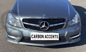 Mercedes C-Class C204 W204 S204 Chrome/Black AMG Style 1 Fin Front Grill 08-14