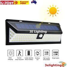 118 LED Solar Motion Sensor Light Outdoor Garden Security Lamp Floodlight IP65