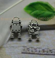Free shipping 20pcs Retro Style alloy lovely The robot Charm pendant
