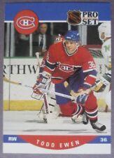 1990-91 Pro Set #470 Todd Ewen Montreal Canadiens RC