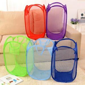 Foldable Laundry Basket Mesh Hamper Dirty Clothes Washing Clothes Bag Storage