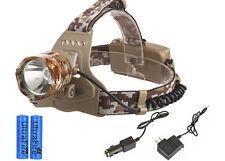 5000LM Headlamp Camouflage CREE XM-L T6 LED Headlight Head Torch Lamp + 2x 18650