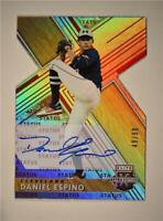2019 Elite Extra Edition Status Die-Cut Red Auto #24 Daniel Espino /50