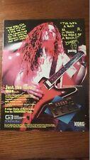 1994 PROMO AD FOR KORG G3  Processor Dimebag Darrell