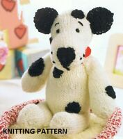 (370) Dog Copy Knitting Pattern, Soft Toy and Dog Bed in Chunky and DK yarns