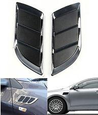 Chrome Fender Hood Side Air Flow Intake Grille Decorative Sticker For Jaguar XK