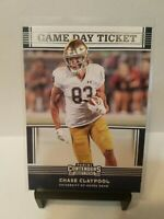 Chase Claypool 2020 Panini Contenders #36 Game Day Ticket Notre Dame Fighting...