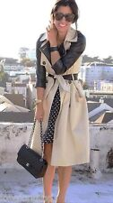 ZARA blogueurs classique belted long trench-coat mac blazer jacket medium neuf