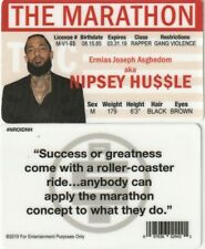 Nipsey Hussle THE MARATHON Gangsta Rap Rapper  fake ID i.d card Drivers License
