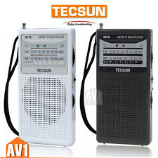 TECSUN R218 Radio Receiver FM / AM / TV Sound Pocket portable mini size gift.