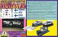 ANEXO DECAL 1/43 LANCIA 037 RALLY MARKKU ALEN 1000 LAKES 1983 (04)
