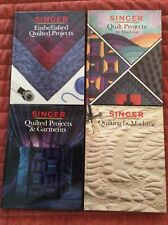 Singer Sewing Reference Library Lot of 4 Hardcover Books on Quilting 1990s