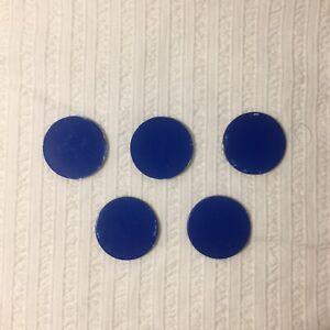 Mattel Scrabble Replacement Five Blue Chips 2009