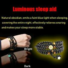 Natural Stone Obsidian Bracelet Magnetic Therapy Weight Loss Unisex Slimmy
