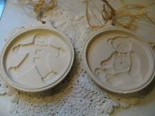 Lot of 2 No Name Cookie Molds Gingerbread and Teddy Bear