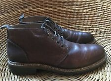 NEXT Men's Brown Leather Lace-Up 4-Eyelet Hi-Top Ankle Boots UK 9 EU 43 US 10