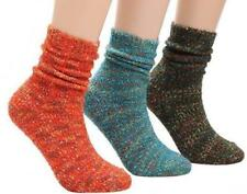 3 Pairs of Women's Patterned Soft Sock Thermal Size 5 to 10 Free Tracking New