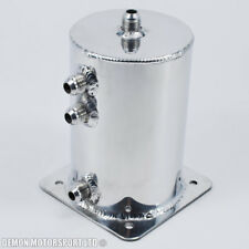 Universal Alloy 1.5 Ltr JIC AN6 -6 Fuel Swirl Pot Surge Tank Polished Aluminium