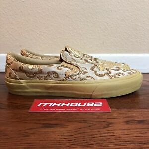 New Opening Ceremony Vans OG Classic Slip-On Qi Pao II Silk Collection Size 10