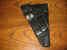 Swedish black leather Lahti pistol holster military 9mm m/40