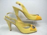 BCBGirls  Womens Shoes / Heels / Sandals  Size 10 B  Yellow Peep Toe #Y