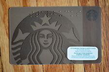 "Canada Series Starbucks ""BRAILLE BROWN SIREN 2015"" Gift Card - New No Value"
