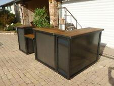 Comptoir commerce sur mesure style industriel métal et bois  meuble industriel
