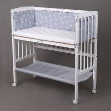 Beistellbett Babybett 90x40 höhenverstellbar mit Matratze Kinderbett weiß