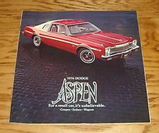 Original 1976 Dodge Aspen Sales Brochure 76 Coupe Sedan Wagon