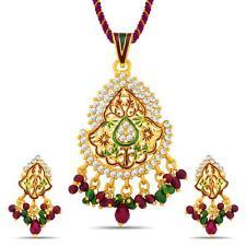 Sukkhi Shimmering Gold Plated Australian Diamond Pendant Set(4036PSADV600)