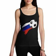 Twisted Envy Russia Football Flag Paint Splat Women's Funny Tank Top